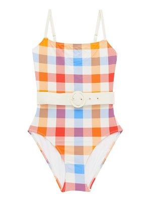 Solid & Striped the nina gingham belted swimsuit