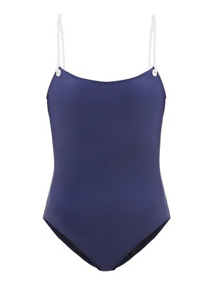 Issimo X Solid & Striped the nina rope-strap swimsuit