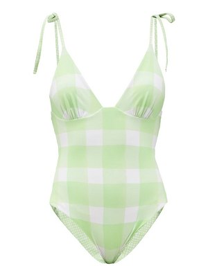 Solid & Striped the olympia reversible check swimsuit