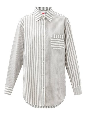 Solid & Striped the oxford oversized striped cotton-twill shirt