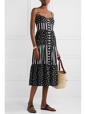 Solid & Striped tiered printed voile midi dress