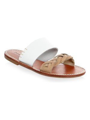 Soludos braided leather slides