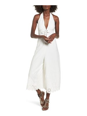Somedays Lovin stars in her eyes eyelet halter jumpsuit