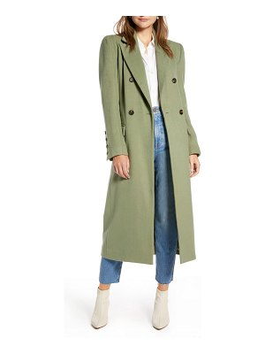 Something Navy long double breasted coat