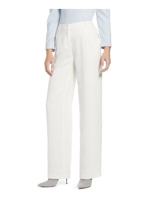 Something Navy pleated wide leg trousers
