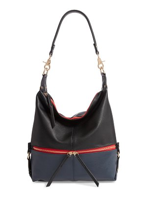 Sondra Roberts colorblock faux leather hobo bag