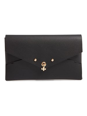 Sondra Roberts origami faux leather clutch