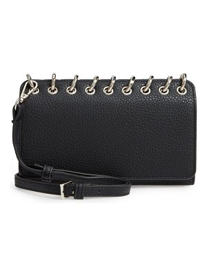 Sondra Roberts ring faux leather crossbody bag