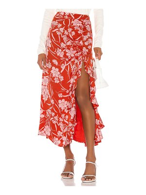 Song of Style zahir midi skirt