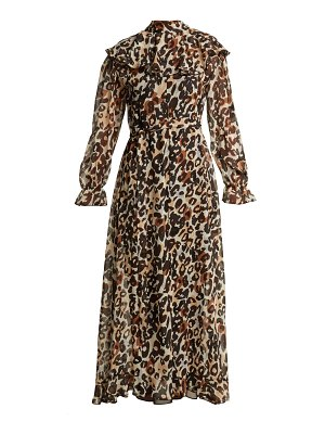 723ee53f29 Valentino Tutankhamun Leopard Print Silk Dress in Pink
