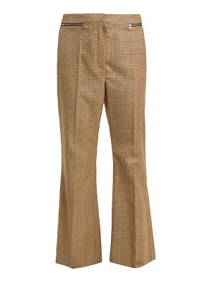 Sonia Rykiel prince of wales check flared wool trousers