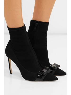 Sophia Webster andie bow nubuck-paneled suede ankle boots