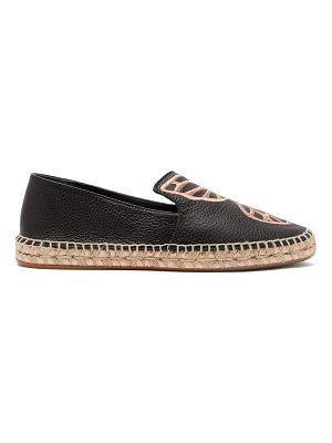 Sophia Webster bibi butterfly-embroidered espadrille loafers