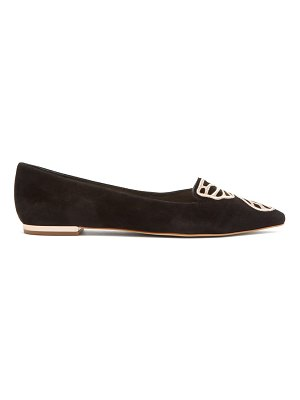 Sophia Webster bibi butterfly-embroidered point-toe suede flats