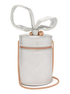Sophia Webster bonnie metallic-leather cylinder bag