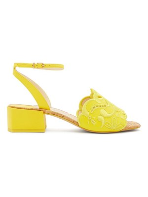 Sophia Webster cassia embroidered leather sandals