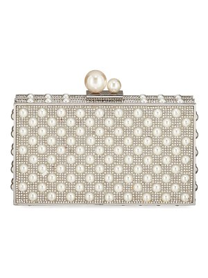 Sophia Webster Clara Crystal Pearly Box Clutch Bag