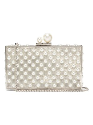 Sophia Webster clara pearl and crystal-embellished box clutch