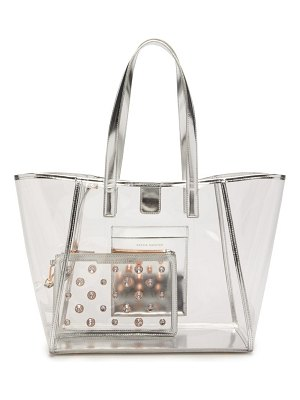 Sophia Webster dina leather-trimmed pvc tote bag