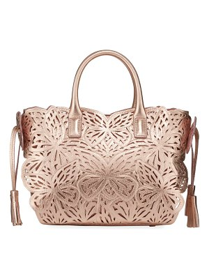 Sophia Webster Liara Mini Metallic Laser-Butterfly Tote Bag