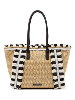 Sophia Webster maya fringed woven tote bag