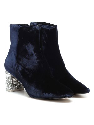 Sophia Webster toni embellished velvet ankle boot