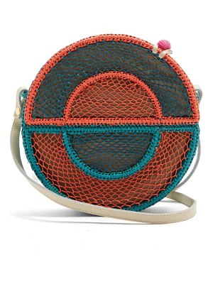 Sophie Anderson nilsa circle toquilla-straw cross-body bag