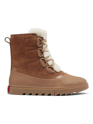 Sorel joan of arctic next lite shearling-trimmed leather boots