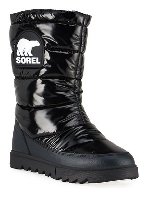 Sorel Joan of Arctic Next Lite Waterproof Patent Puffy Mid Boots