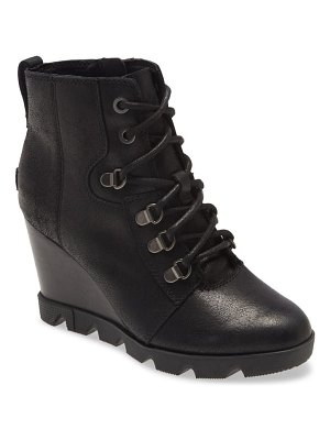Sorel joan uptown waterproof wedge bootie