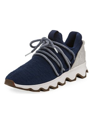 Sorel Kinetic Lace-Up Knit Sneakers