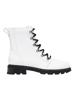 Sorel lennox leather combat boots
