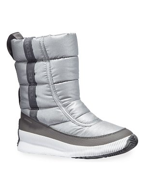 Sorel Out 'N About Mid Puffy Metallic Waterproof Boots