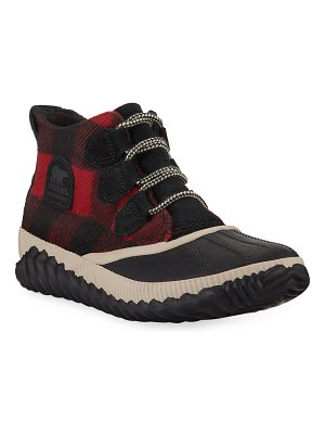 Sorel Out 'N About Plus Waterproof Tartan Boots