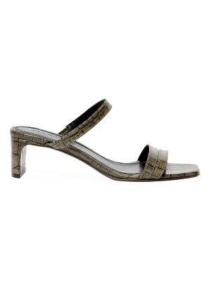 Souliers Martinez luz croc-embossed leather mules