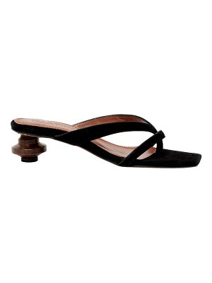 Souliers Martinez verano suede thong sandals
