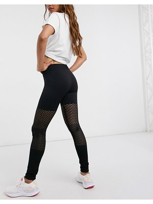 South Beach fitness seamless gradual mesh leggings in black