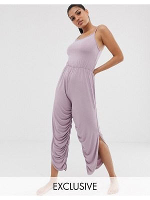 South Beach yoga romper in pink