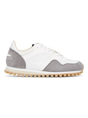 Spalwart white and grey marathon trail low sneakers