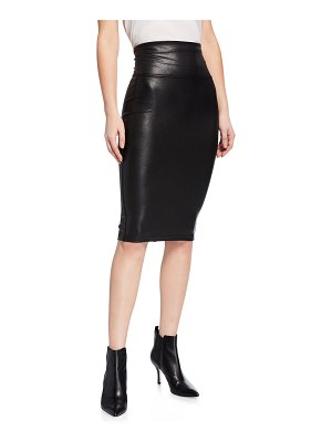 SPANX Faux-Leather Pencil Skirt
