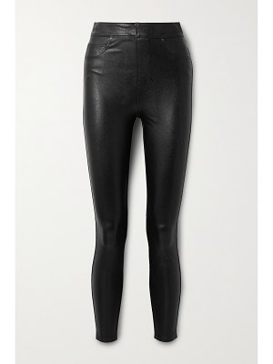 SPANX like leather faux stretch-leather skinny pants