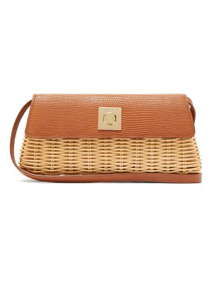 Sparrows Weave the clutch wicker and leather cross body bag