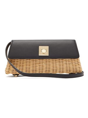 Sparrows Weave the clutch wicker and leather cross-body bag