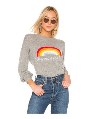 Spiritual Gangster cashmere blend today rainbow block party sweater