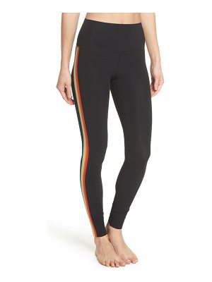 Spiritual Gangster rainbow stripe leggings