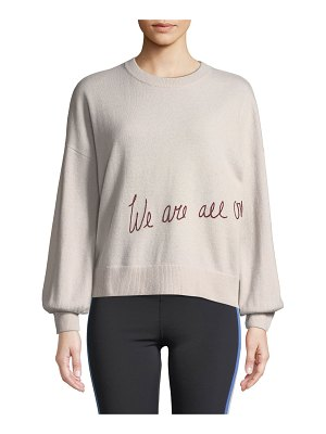 Spiritual Gangster We Are All One Embroidered Pullover Sweater