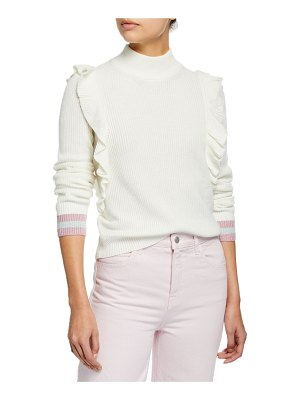 Splendid Amico Ruffled Turtleneck Pullover Sweater