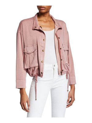 Splendid Cropped Sateen Utility Jacket