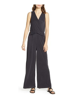 Splendid knot detail sleeveless jumpsuit