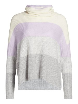 Splendid stripe funnel neck sweater